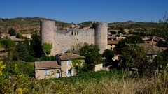 Villerouge-Termenes Burg Stock Footage