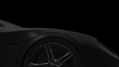 Luxury Sport Car Slowly Moving. 3D Animation Arkistovideo