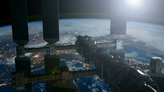 ISS. International Space Station Orbiting Earth. Stock Footage