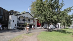Rowing Club, Yarra River and City Stock Footage