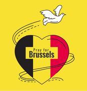 Pray for Brussels. Stock Illustration