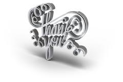 Digital image of thank you text Stock Illustration