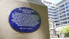 St Augustine's Church, Melbourne, Victoria, Australia Stock Footage
