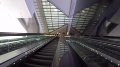 Suntec Convention & Exhibition Centre elevator, Singapore, South Asia, Asia Stock Footage