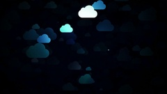 Moving cartoon clouds,  3D animation Stock Footage