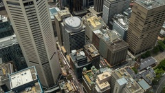 View from Sydney Tower Stock Footage