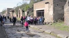 Pompei Ruins - Naples - IT Stock Footage