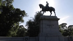 Edward VII, Queen Victoria Gardens, Melbourne, Victoria, Australia Stock Footage