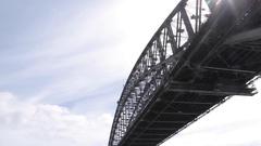 Sydney harbour bridge, Sydney, New South Wales, Australia Stock Footage