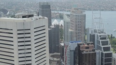 View from Sydney Tower, Sydney, New South Wales, Australia Stock Footage