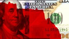 US dollar falling. America's economy downfall Stock Footage