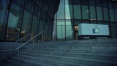 4k Dublin on Dusk, EU Headquarter of Facebook Office on Docklands Stock Footage