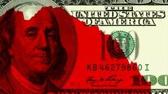 US dollar falling. America's economy downfall. crisis 2007-2008 Stock Footage