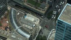 Street View from Sydney Tower, Sydney, New South Wales, Australia Stock Footage