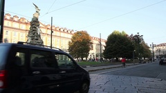 Piazza Statuto in Turin Italy Stock Footage
