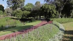 Queen Victoria Gardens, Melbourne, Victoria, Australia Stock Footage