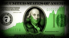US dollar rising. America's economy rise after Great depression times. Stock Footage