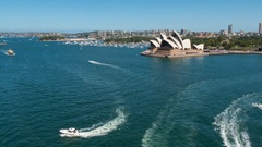 Sydney Opera House and Harbour, Sydney, New South Wales, Australia Stock Footage