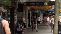 Kings Cross pedestrians, Sydney, New South Wales, Australia Stock Footage