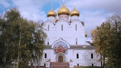 Assumption Uspensky Cathedral in Yaroslavl. Golden ring of Russia Stock Footage