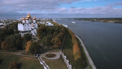 Top view of the attractions of Yaroslavl Stock Footage