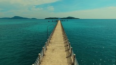Aerial: Flying over the Rawai pier. Stock Footage