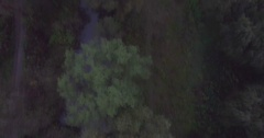 Camera flies towards low the Bridge in Kamianets-Podilski Stock Footage