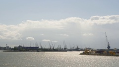The harbor of Rotterdam Stock Footage