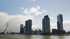 Rotterdam cityscape Stock Footage