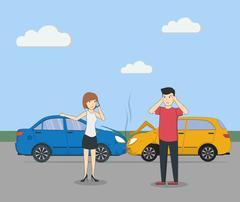 Head on collision. Stock Illustration