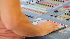 Sound engineer working with sound Stock Footage