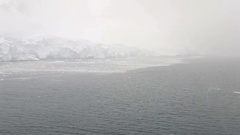 Cruise ship entering Lemaire Channel, Antarctic Peninslula, Antarctica Stock Footage