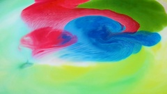 Beautiful movement of bright colors on a white background Stock Footage