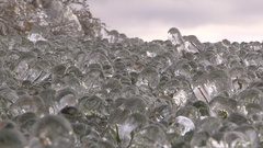 Ice covers everything after storm making it look like ice age Stock Footage