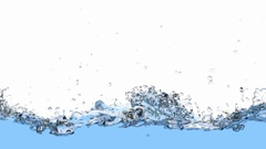 Water is filling the screen realistic 3D animation with alpha matte Stock Footage