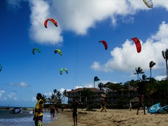 Kite Surf Time laps Stock Footage