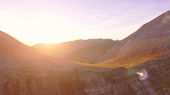 Scenic View Of Snow Covered Mountains During Sunset Sky Timelapse Tourism Sun Stock Footage