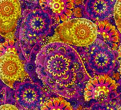 Traditional oriental seamless paisley pattern. Vintage flowers background Stock Illustration