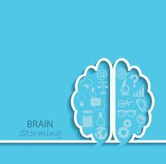 Brainstorm concept, vector. Stock Illustration