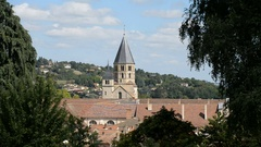 Romanesque Cluny church in Burgundy, France , EU, Europe Stock Footage