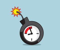 Time bomb, deadline vector illustration Stock Illustration