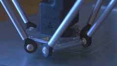 3D printer working colse up Stock Footage