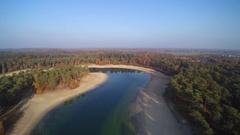 Henschotermeer Forrest water lake nature utrecht Stock Footage