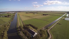 Dykes gemaal watermanagement Holland Stock Footage