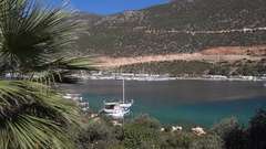 View on Kas bay and marina Stock Footage