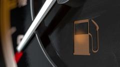 Dash light PETROL  EX Stock Footage