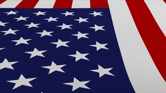 United States of America -  flag waving in the wind Stock Footage
