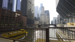 Chicago River Water Taxi Stock Footage