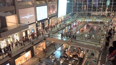 Singapore - 3 November 2016: Visitors in shopping mall Marina Bay Sands Stock Footage