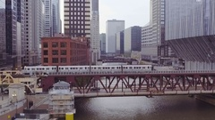 Chicago Illinois Aerial Stock Footage